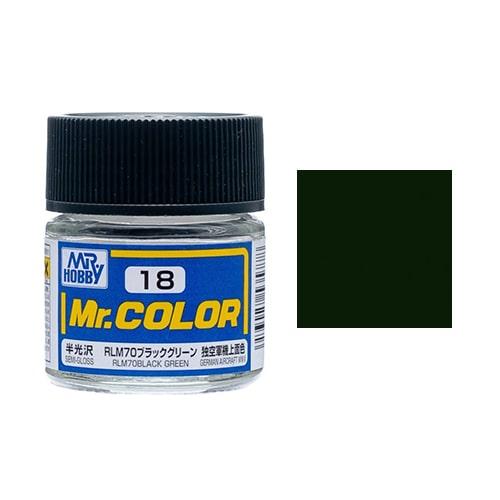 C-018 Mr. Color (10 ml) RLM70 Black Green