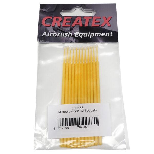 CREATEX Microbrush 12τεμ. fine, yellow