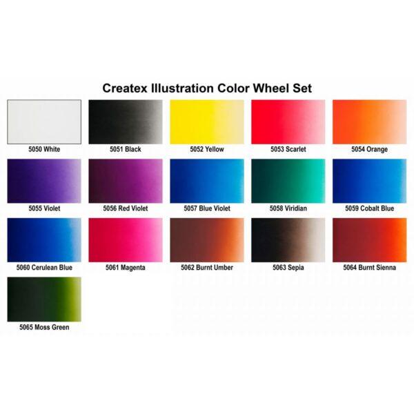Createx illustration color wheel set