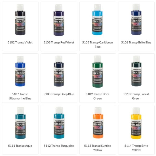 Createx Transparent colors set