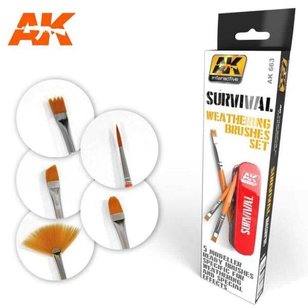 AK SURVIVAL WEATHERING BRUSHES SET