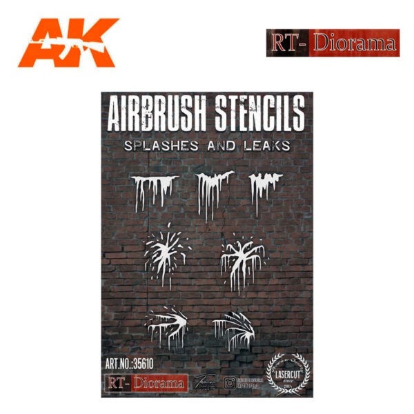 STENCIL: SPLASHES AND LEAKS 1/35